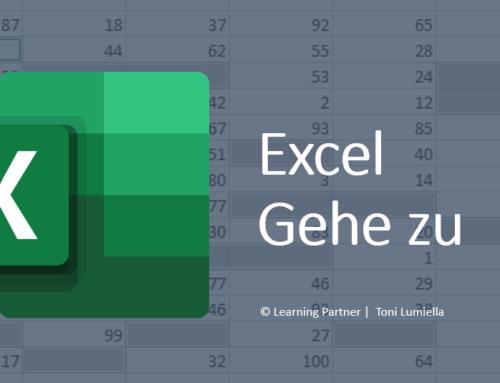 Excel: Der Befehl «Gehe zu»