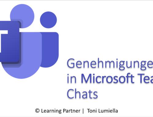 Genehmigungen in Microsoft Teams – Chats