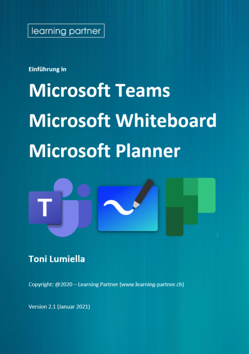 Frontcover Kursunterlage Microsoft Teams - Planner - Whiteboard
