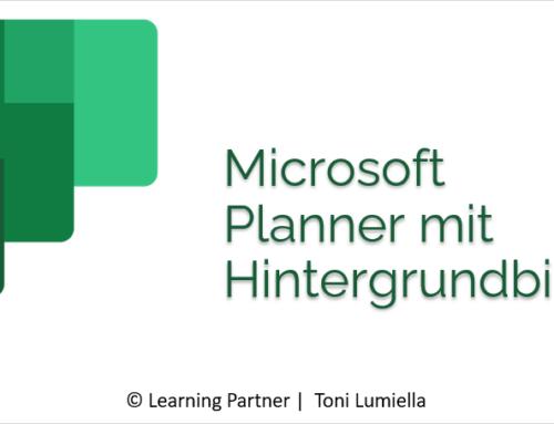 Microsoft Planner mit Hintergrundbild